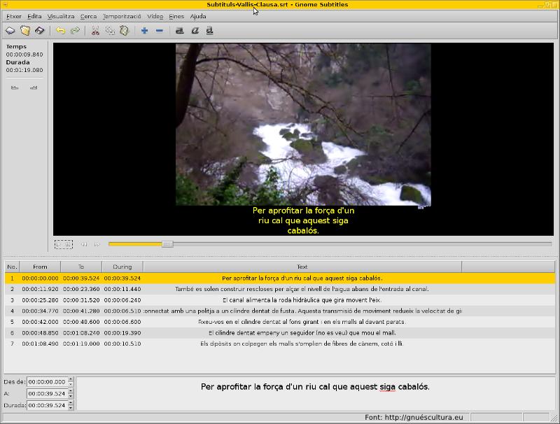 Edició i subtitulació de vídeos en GNU Linux (2) – GNU és