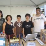Paradeta amb els professors i alumnes  a la Fira del Motor d'Oliva
