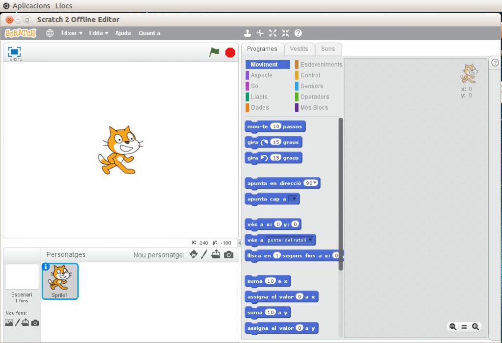 Scratch2 en Ubuntu