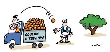 L'espoli fiscal que patim els valencians dibuixat per Ortifus
